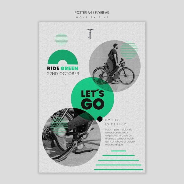 Bewegen sie sich mit dem fahrrad flyer Kostenlosen PSD