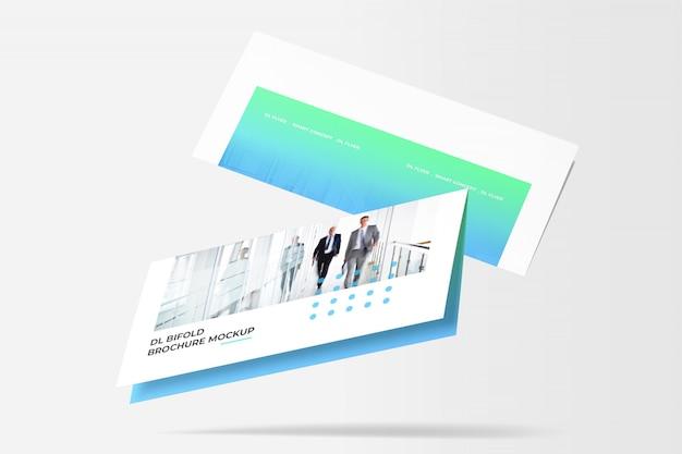 Bi-fold brochure mockup Premium PSD