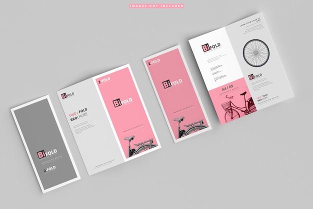 Bi-fold-broschürenmodelle Premium PSD