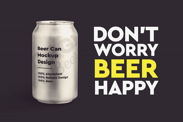 Bier-mock-up Premium PSD