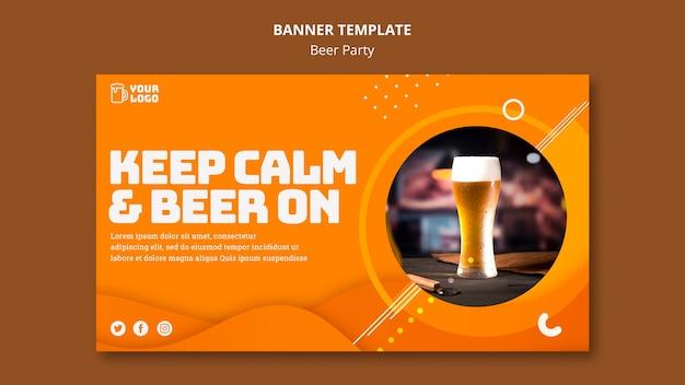 Bier party banner vorlage Kostenlosen PSD