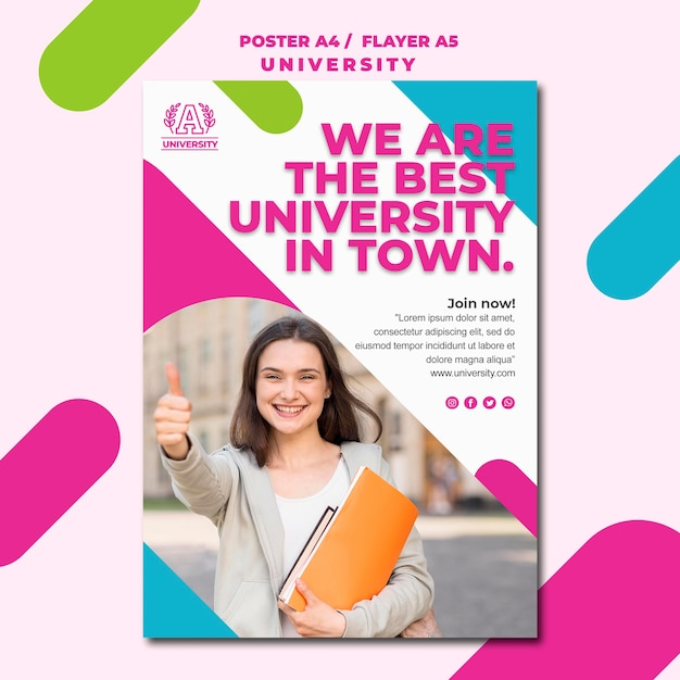 Bildungskonzept universitätsplakatstil Kostenlosen PSD