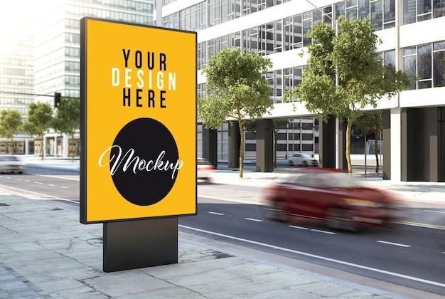 Billboard advertising mock up auf der straße Premium PSD