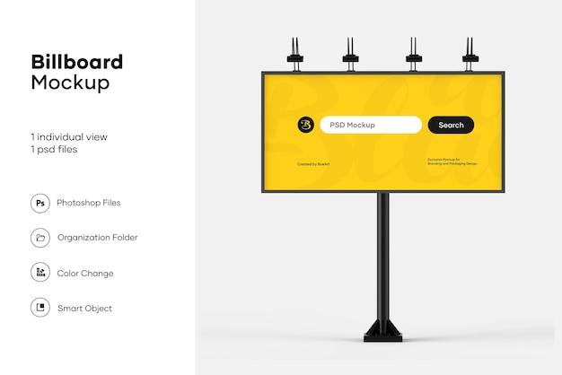 Billboard mockup design isoliert Premium PSD