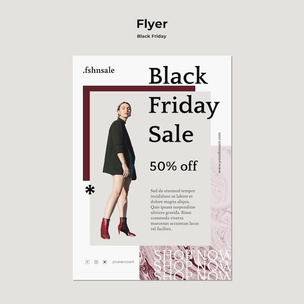 Black friday flyer vorlage Kostenlosen PSD