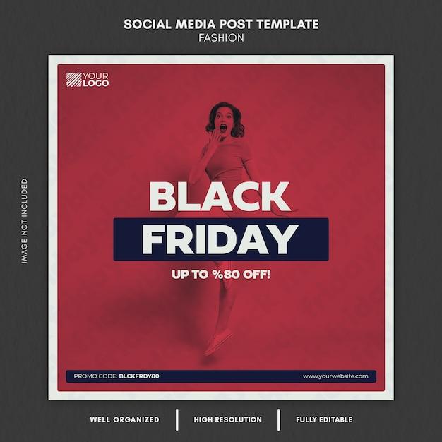 Black friday mode social media post vorlage Premium PSD