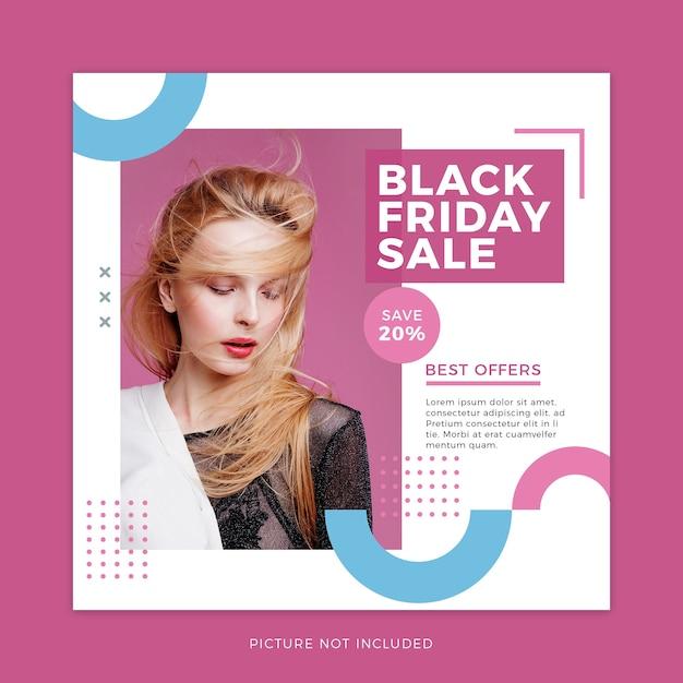 Black friday mode verkauf social media vorlage Premium PSD