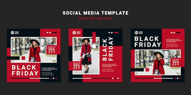 Black friday social media post vorlage Premium PSD