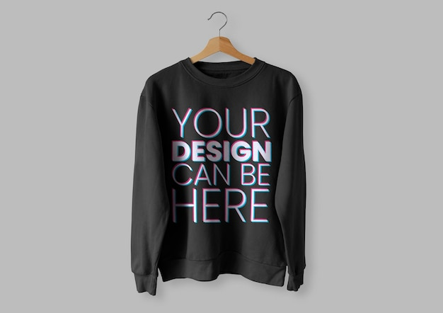 Black front sweater mockup Kostenlosen PSD