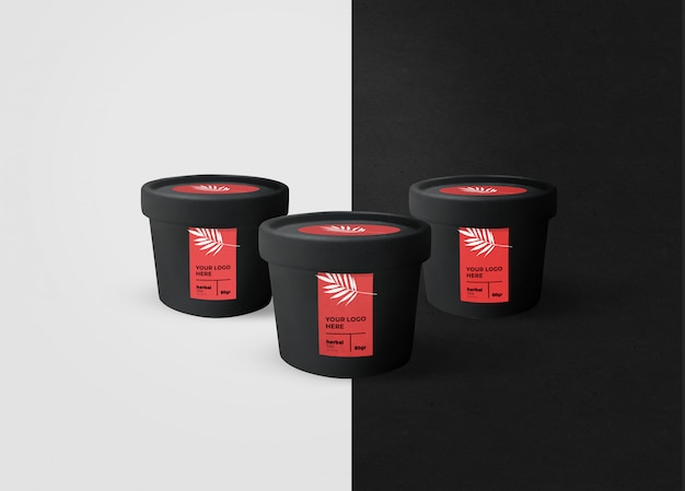 Black jar mockup Premium PSD