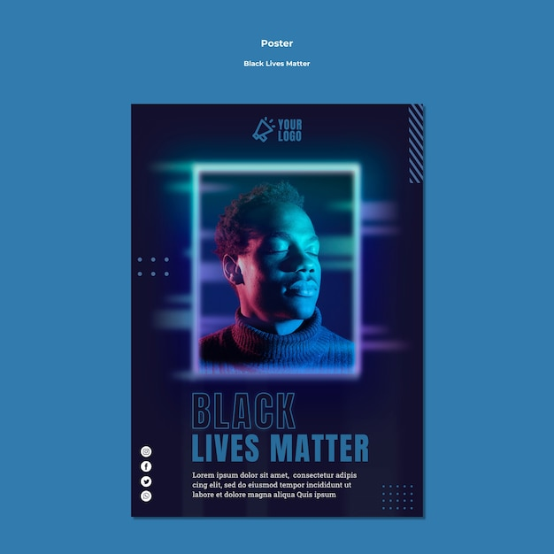 Black lives materie flyer vorlage Kostenlosen PSD