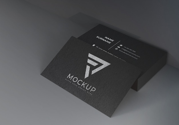 Black name card mockups Premium PSD