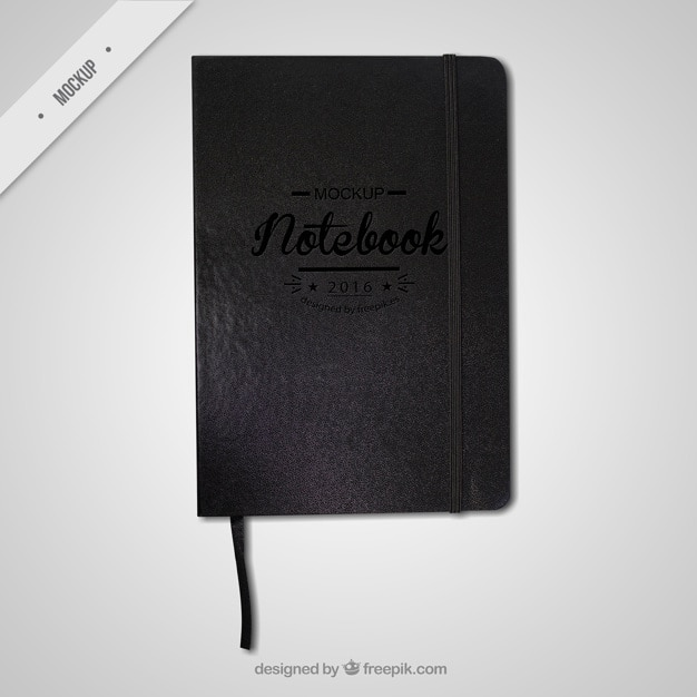Black notebook mockup Kostenlosen PSD