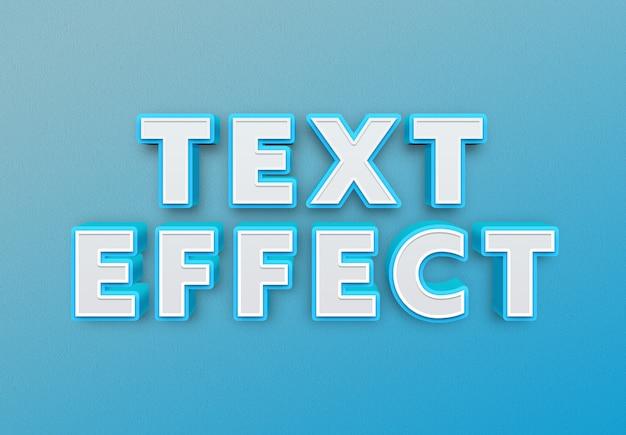 Blauer fetter texteffekt Premium PSD