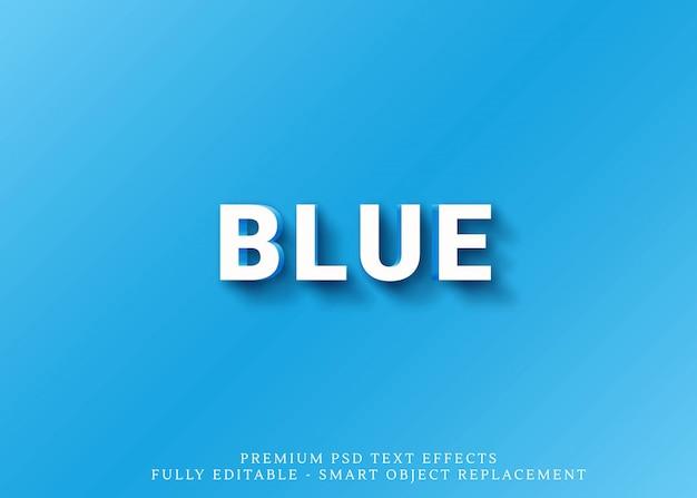 Blauer und orange arteffekt des textes 3d Premium PSD