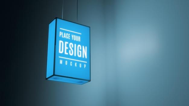 Blaues farbnachtgeschäftszeichen Kostenlosen PSD