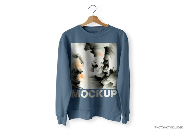 Blue front sweater mockup Kostenlosen PSD