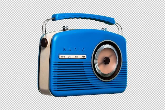 Blue vintage radio isoliert Premium PSD
