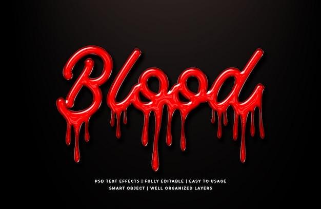 Blut 3d textstil Premium PSD