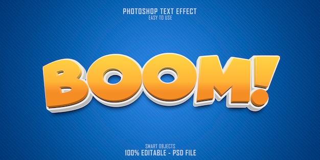 Boom 3d-textstileffekt Premium PSD