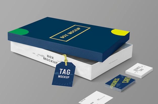Box verpackung mockup-vorlage Premium PSD