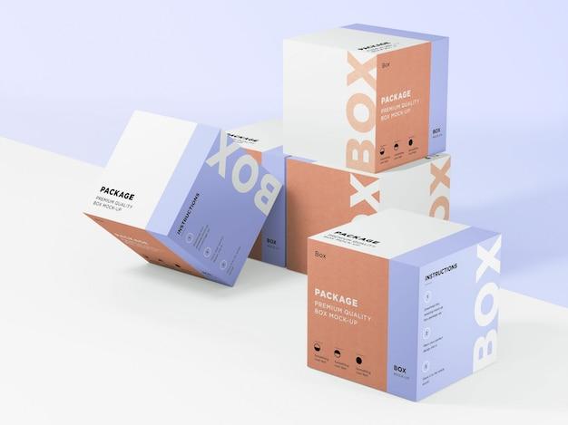 Boxen sammlung mock up Premium PSD