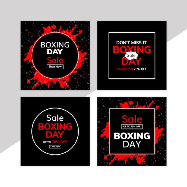 Boxing day sale banner Premium PSD
