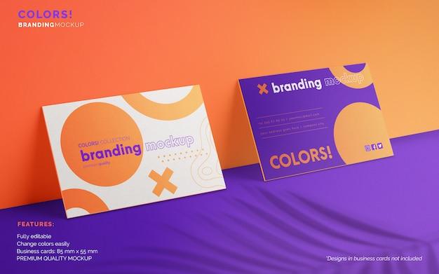 Branding-modell mit zwei visitenkarten Kostenlosen PSD