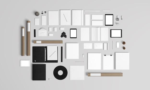 Branding- und schreibwaren-kit Premium PSD