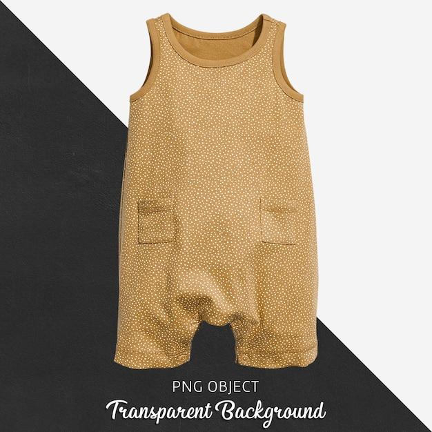 Brauner jumpsuit auf transparent Premium PSD