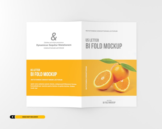 Brief bifold broschüre mockup Premium PSD