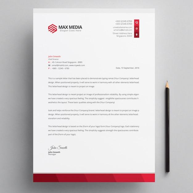 Briefkopf Premium PSD