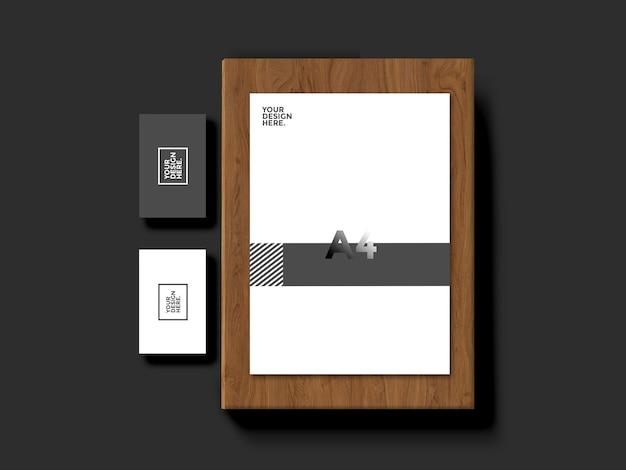 Briefpapier visitenkarte modell Premium PSD