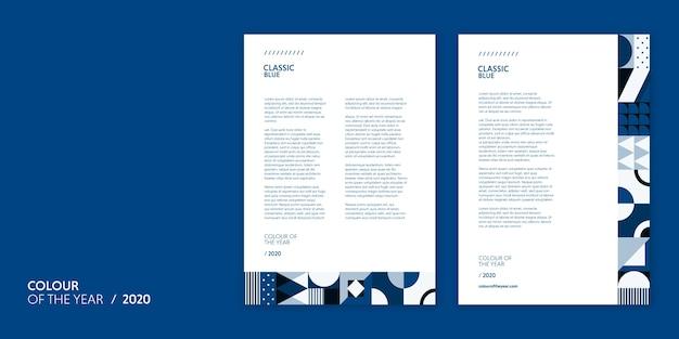 Briefvorlagenfarbe des jahres 2020 Kostenlosen PSD