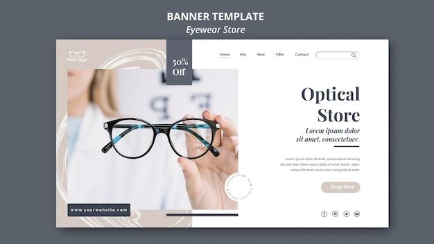 Brillengeschäft banner vorlage design Kostenlosen PSD
