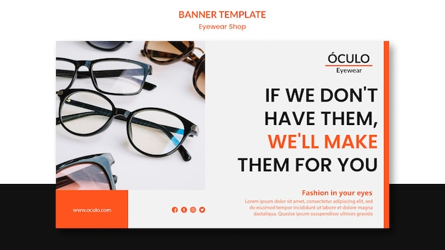 Brillengeschäft konzept-banner-vorlage Kostenlosen PSD