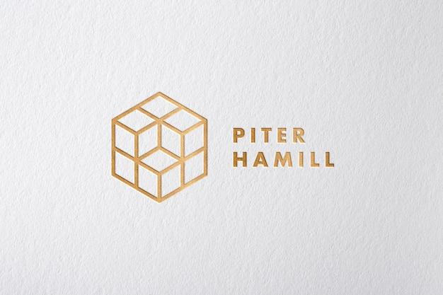 Bronze logo modell Premium PSD