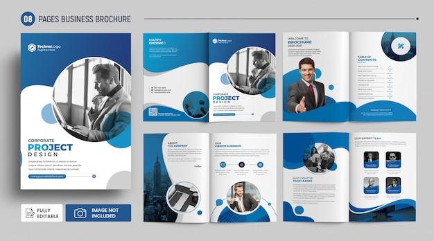 Broschüre mit den deckblättern des firmenprofils Premium PSD
