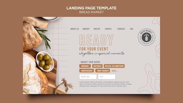 Brotmarkt landingpage vorlage Kostenlosen PSD