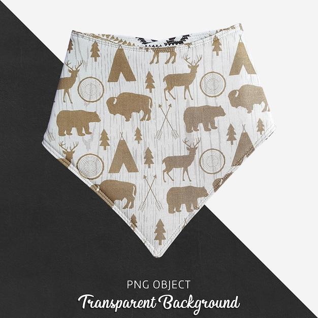 Brown kopierte bandana für baby oder kinder auf transparentem hintergrund Premium PSD