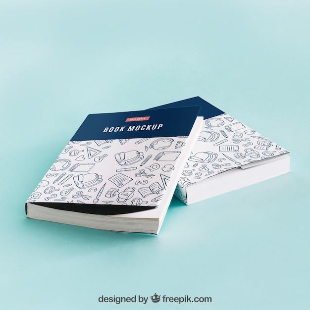 Buchcover-modell von zwei Kostenlosen PSD