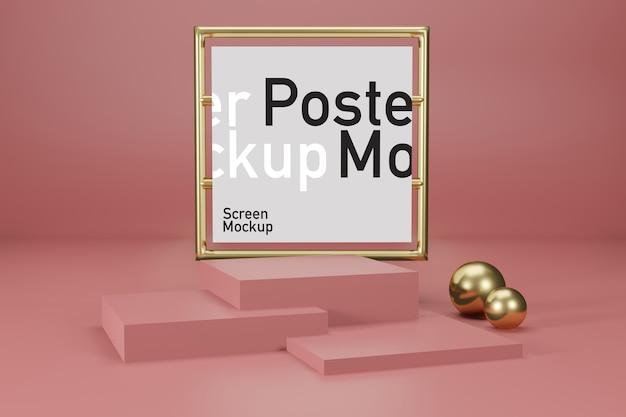 Bühnenmodellanzeige mit plakatmodell Premium PSD