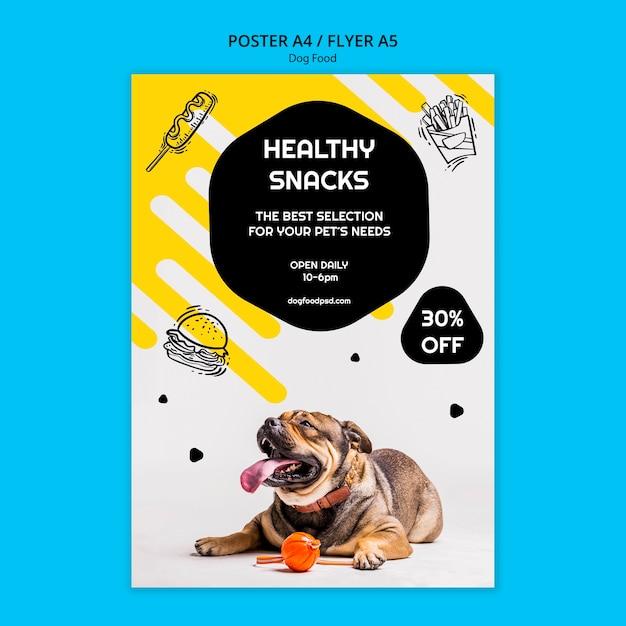 Bunter hundefutterquadratflieger Kostenlosen PSD