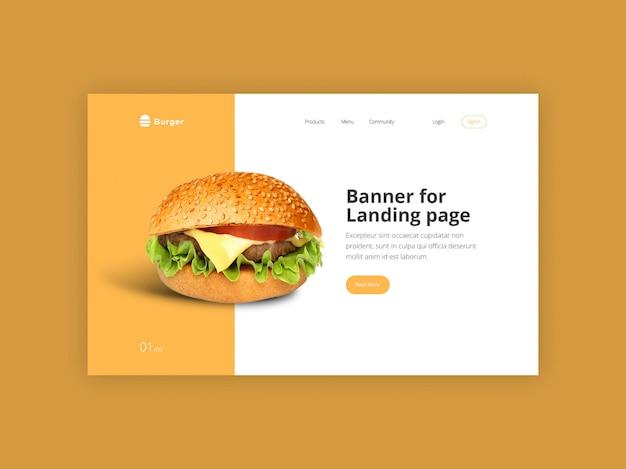 Burger held banner vorlage Premium PSD