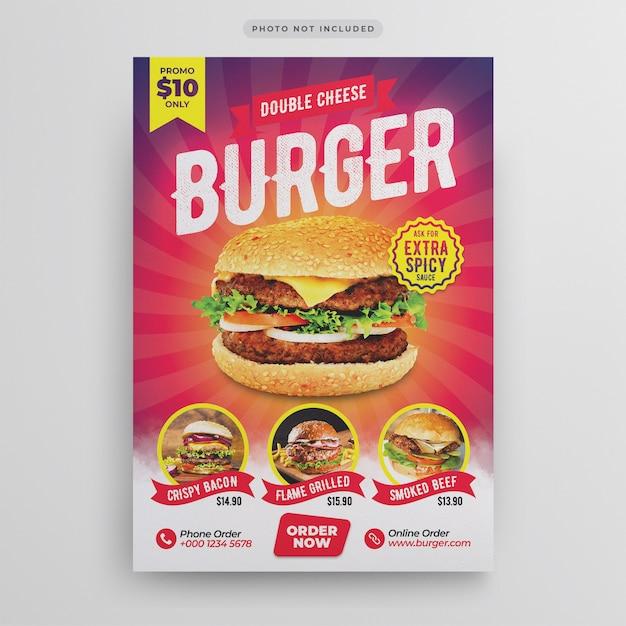 Burger restaurant flyer vorlage Premium PSD
