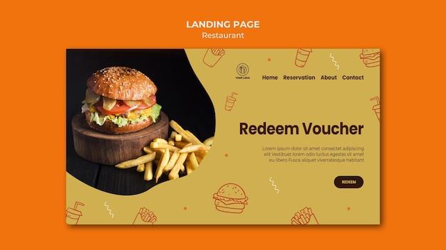 Burger restaurant webseitenvorlage Kostenlosen PSD