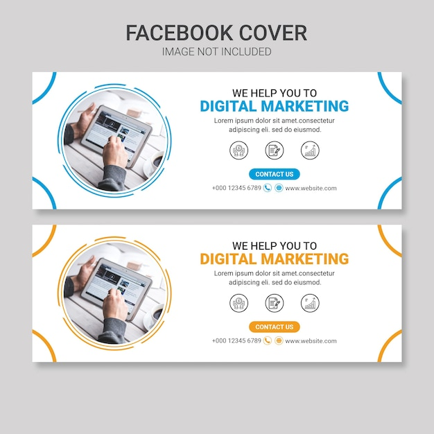 Business facebook cover design-vorlage Premium PSD