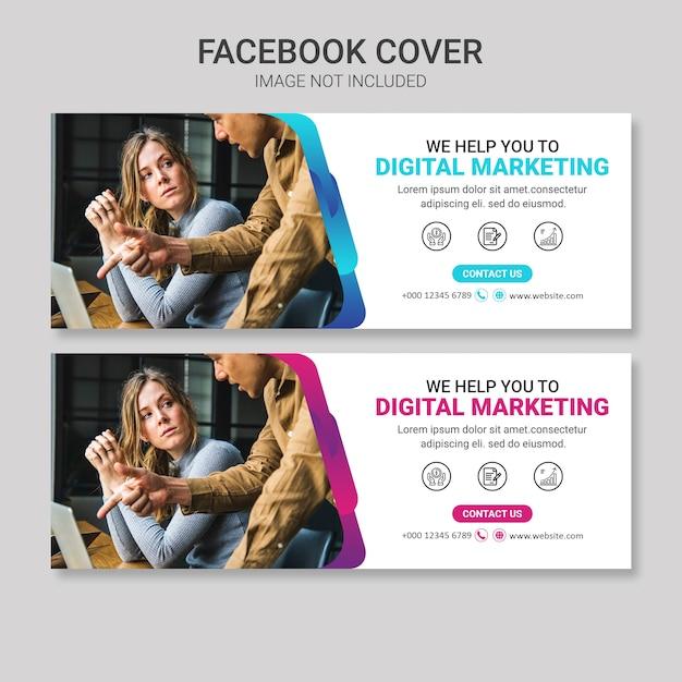 Business facebook cover design Premium PSD