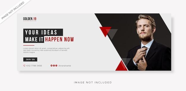 Business facebook cover und web-banner verspotten Premium PSD