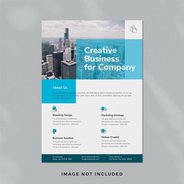 Business flyer vorlage 03 Premium PSD